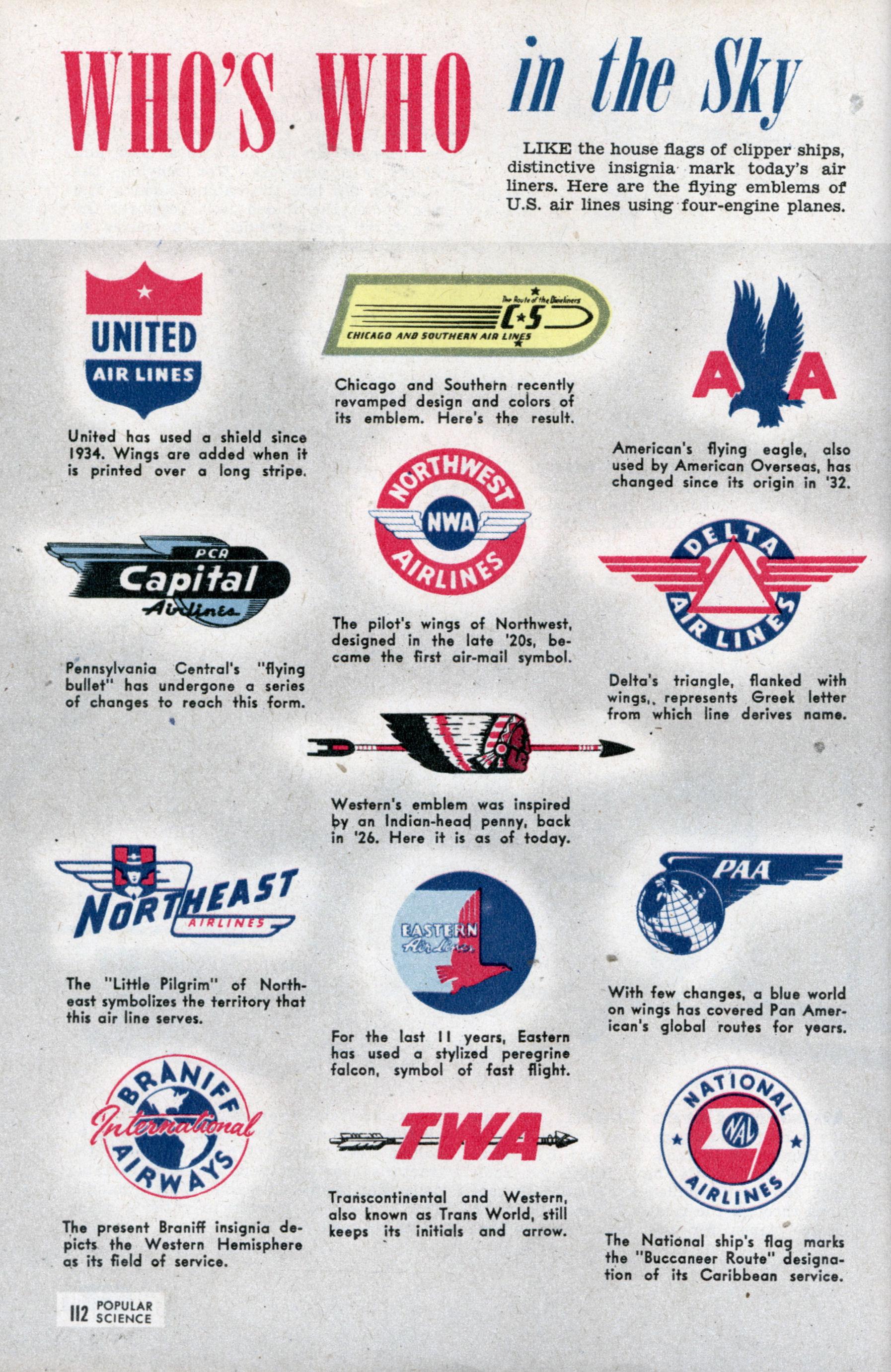 Vintage Airline Logos 65162