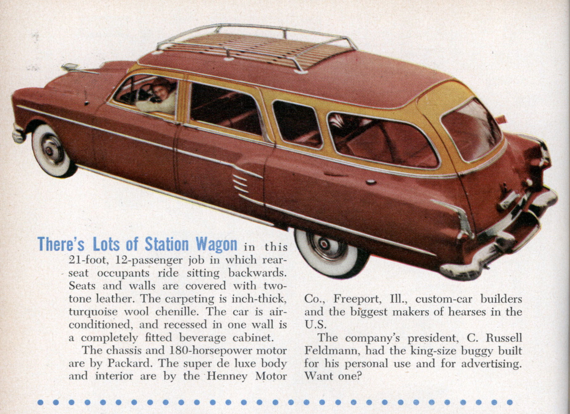 21 Foot 12 Passenger Station Wagon Modern Mechanix