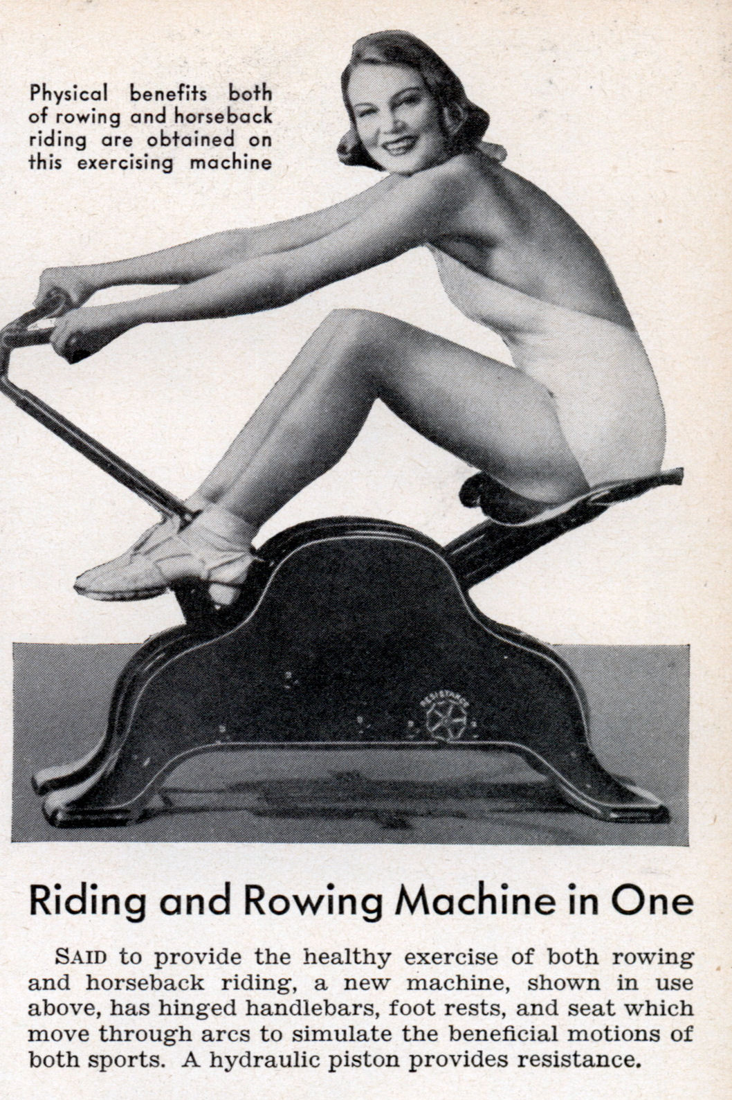 Old Fashioned Rowing Machine