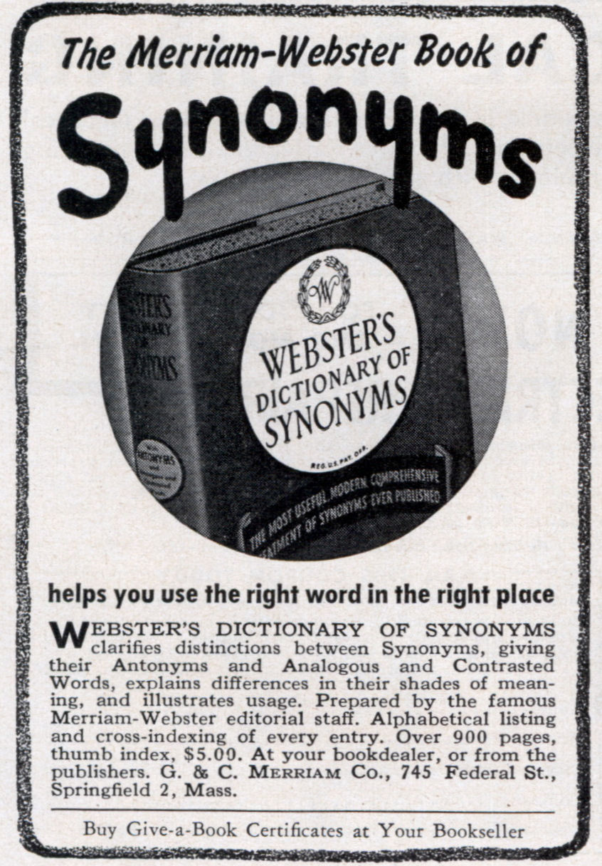 The Merriam-Webster Book of Synonyms (Apr, 1948)