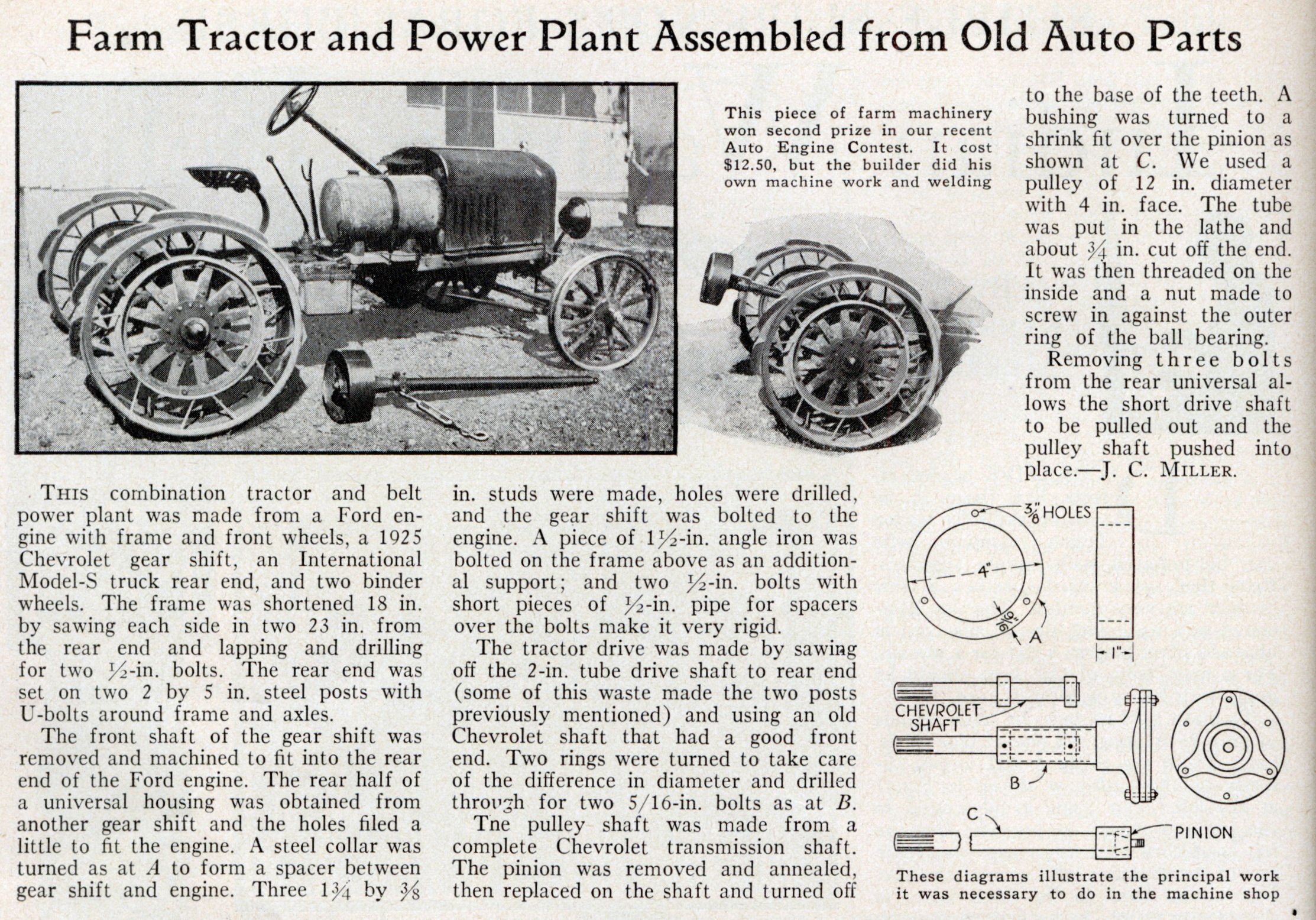 farm tractor diagram farm image wiring diagram farm tractor and power plant assembled from old auto parts on farm tractor diagram