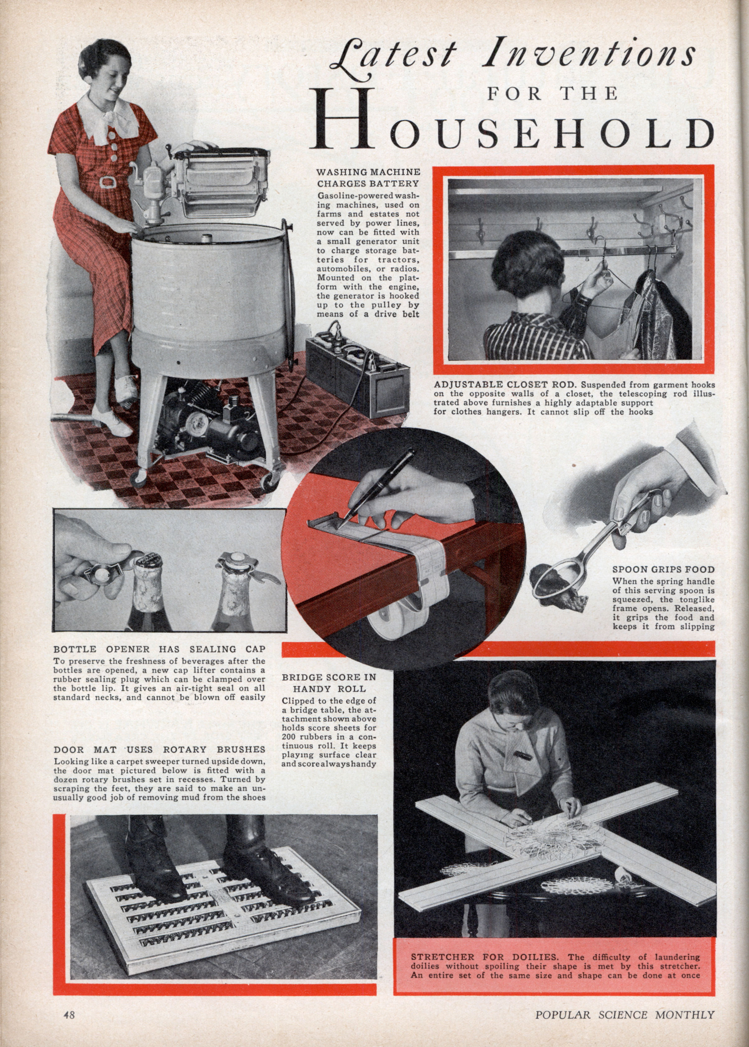 Latest Inventions For The Household Modern Mechanix