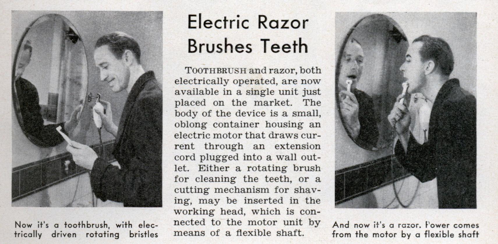 electric razor brushes teeth modern mechanix