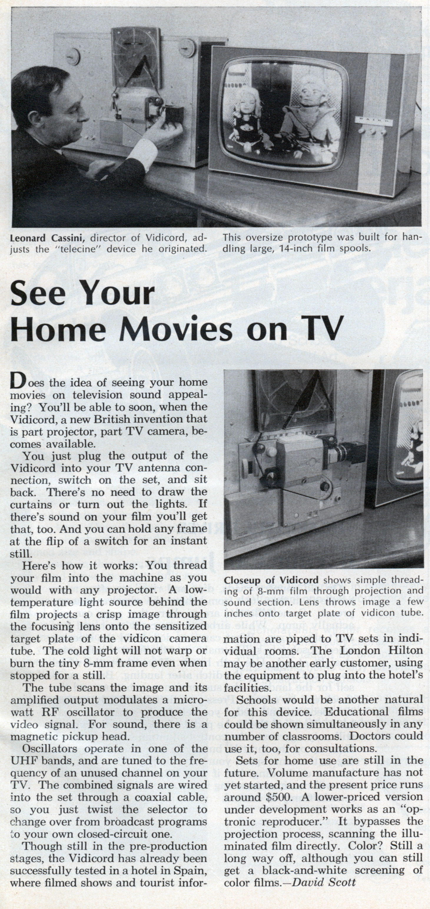 See Your Home Movies on TV