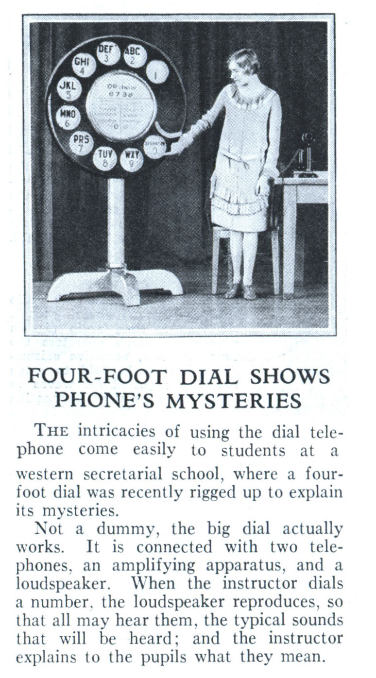 using the dial telephone