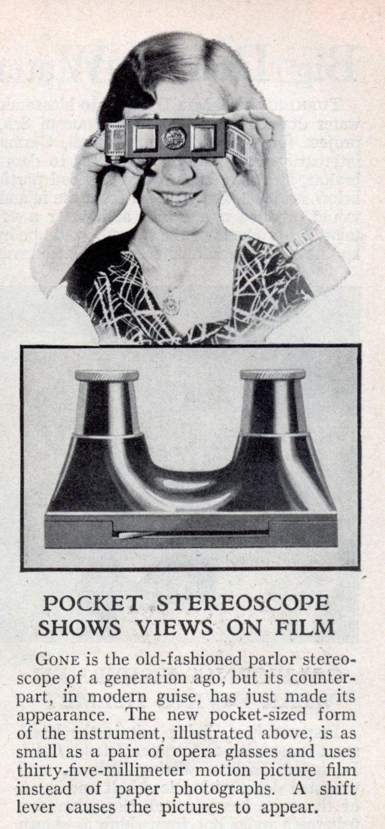 POCKET STEREOSCOPE | Modern Mechanix