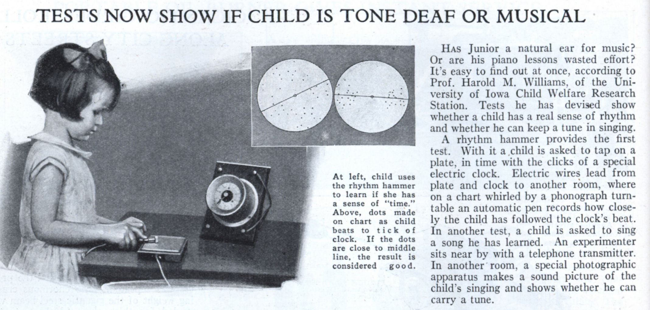 TESTS NOW SHOW IF CHILD IS TONE DEAF OR MUSICAL | Modern