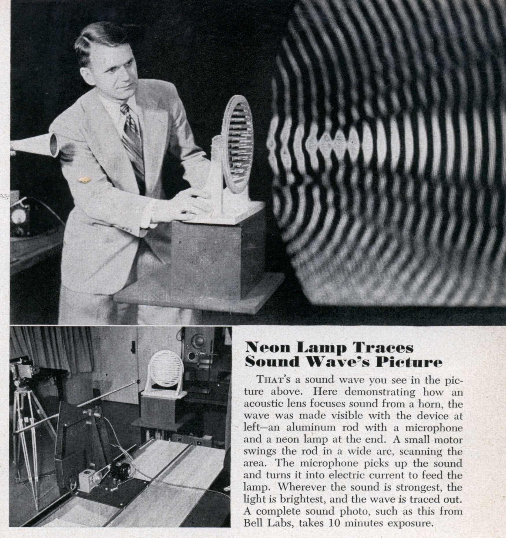 Neon Lamp Traces Sound Wave S Picture Modern Mechanix