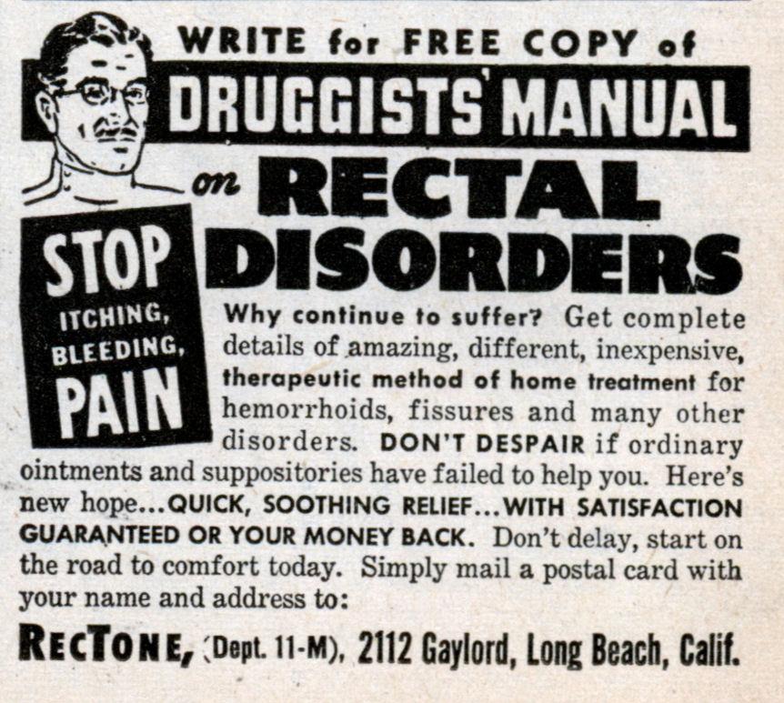 RECTAL DISORDERS: Stop the Itching, Bleeding PAIN | Modern Mechanix
