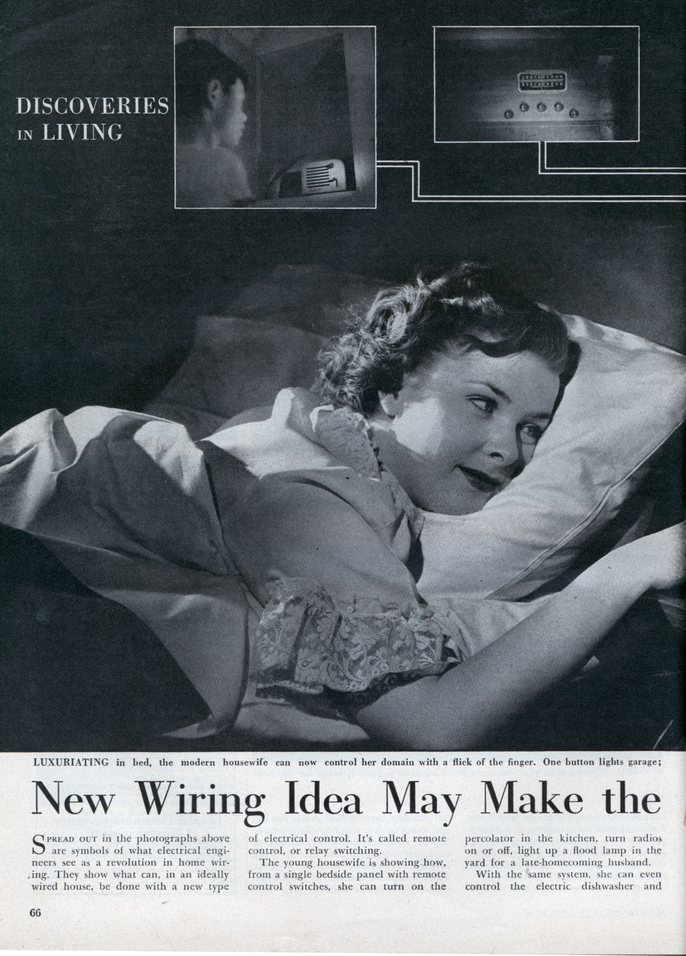 New Wiring Idea May Make The All Electric House Come True Modern A Light 1949