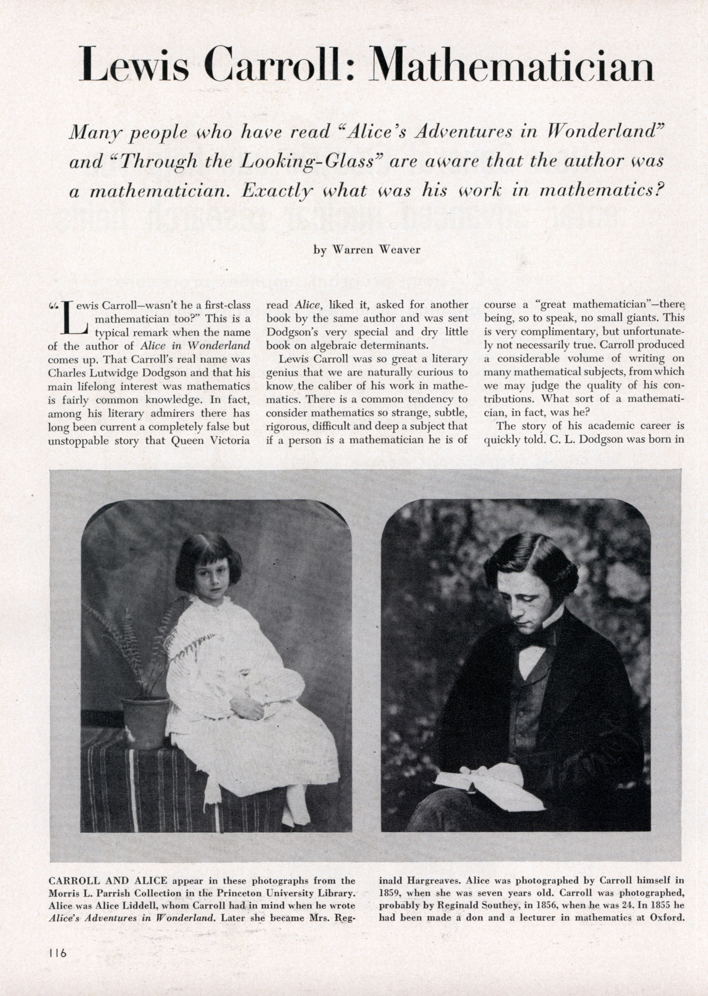 Biography of Lewis Carroll, the work of the writer, interesting facts 77