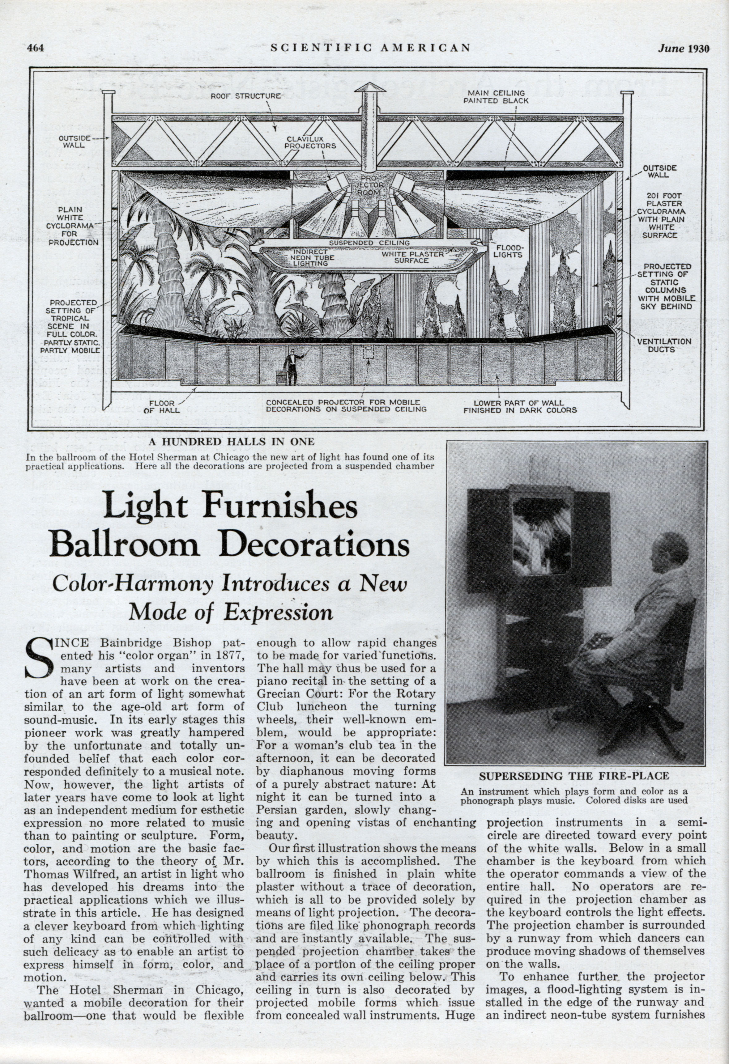Color Harmony Introduces A New Mode Of Expression Modern Mechanix Organ Jun 1930
