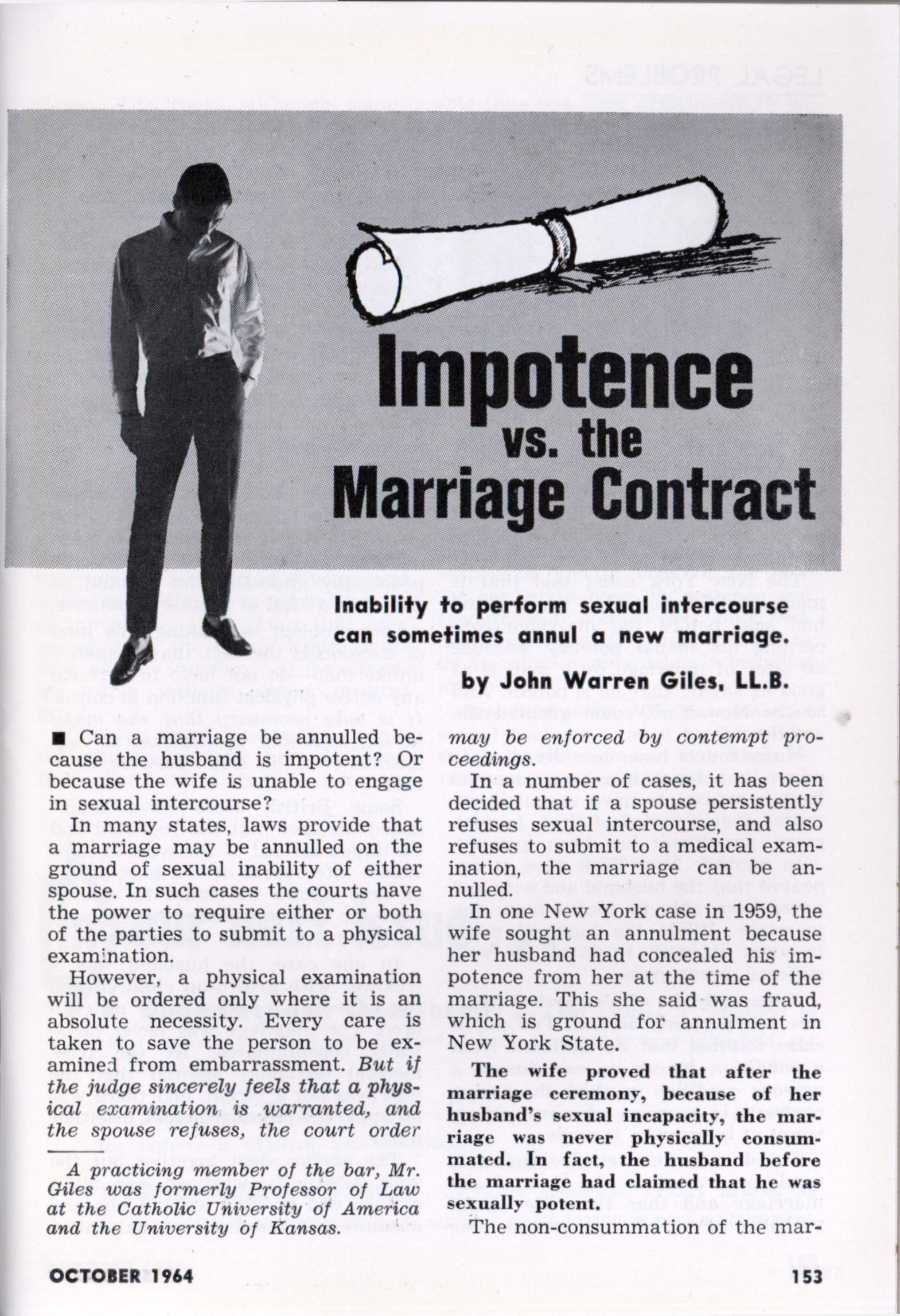 impotence and divorce