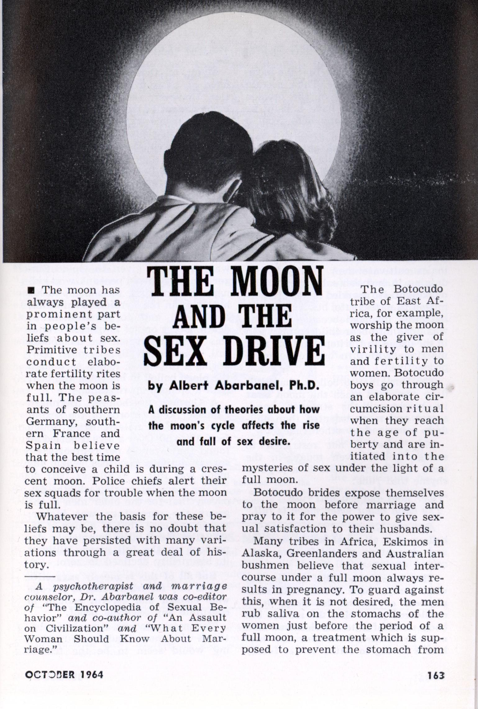 THE MOON AND THE SEX DRIVE
