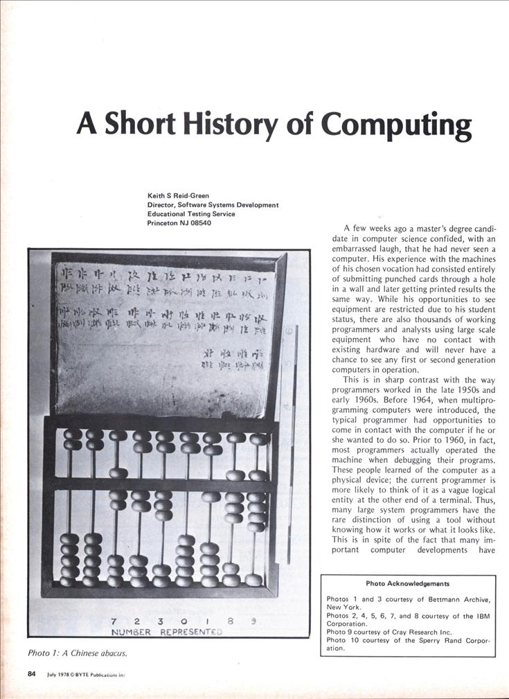 a history of modern computing and computer science Despite the under-representation in the computer science and  history of women in computing  but it was a breakthrough in the development of modern computing.