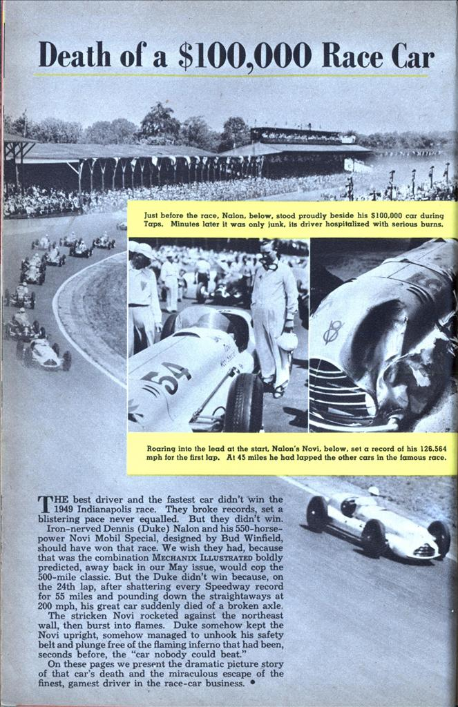 Death Of A 100 000 Race Car Modern Mechanix