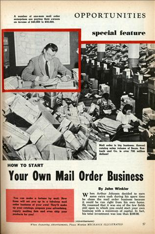 Your Own Mail Order Business. By John Winkler