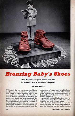 Bronzing Baby's Shoes | Modern Mechanix