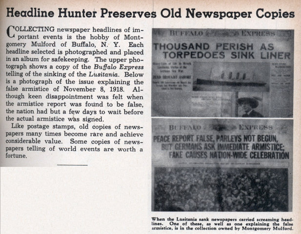 Buying copies of old newspapers