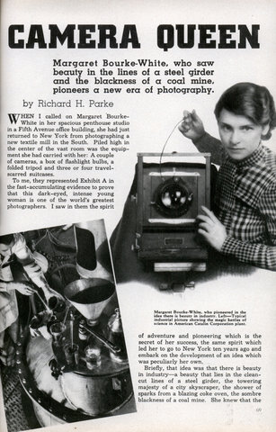 margaret bourke white. Margaret Bourke-White, who saw