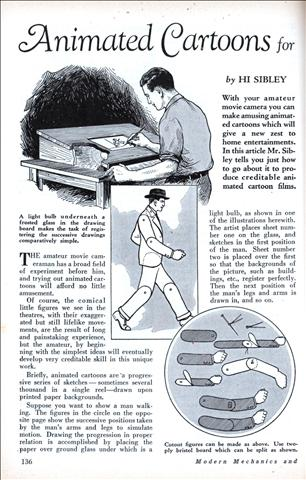 Animated Cartoons for the Amateur Cameraman (May, 1930)