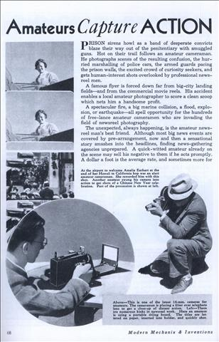 Amateurs Capture ACTION for the NEWSREELS (May, 1936)