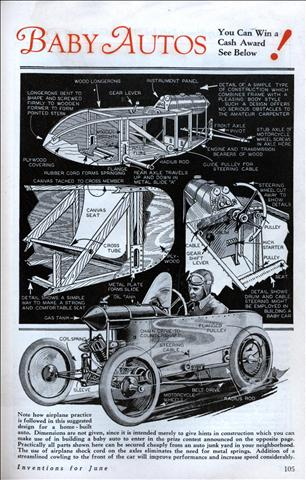 Auto Racing History Female on Prizes For Home Built Baby Autos
