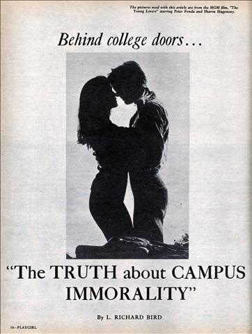 Poster: Behind Closed Doors: The Truth about Campus Immorality. Image of the sillhouette of a man and woman (I assume) embracing.
