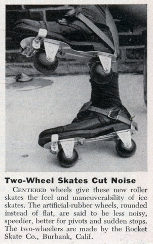 Two-Wheel Skates Cut Noise Centered wheels give these new roller skates the