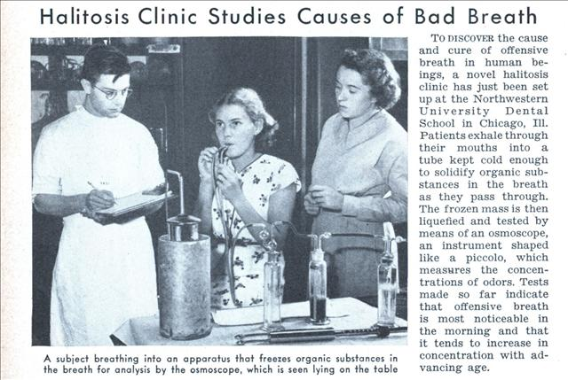 Halitosis Clinic Studies Causes of Bad Breath (Dec, 1938)