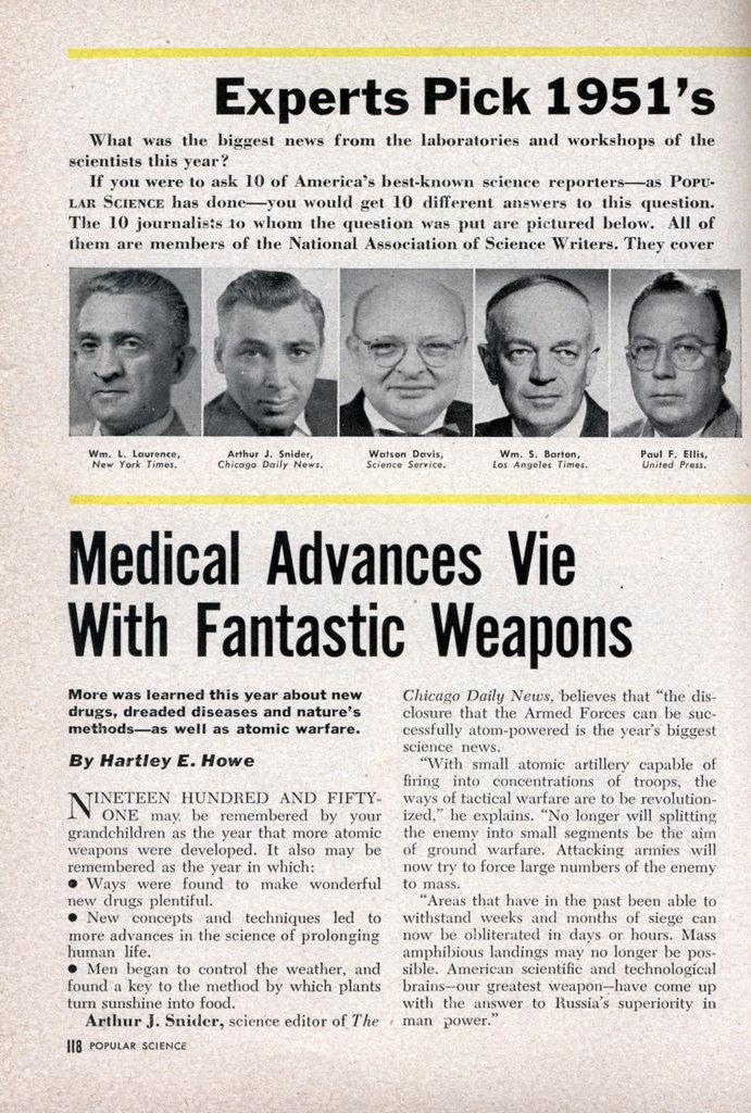 science articles 1951 newspaper scientific experts biggest popular pick times paper info press dec previous modernmechanix mechanix modern popularscience