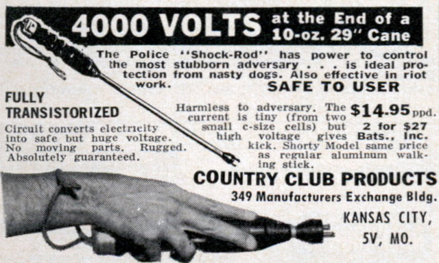 4000 Volts At The End Of A 10 Oz 29 Cane Modern Mechanix