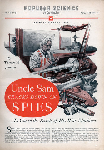 Uncle Sam CRACKS DOWN ON SPIES . To Guard the Secrets of His War