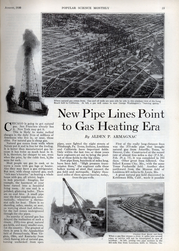 Cheap Oil Changes Near Me >> New Pipe Lines Point to Gas Heating Era | Modern Mechanix