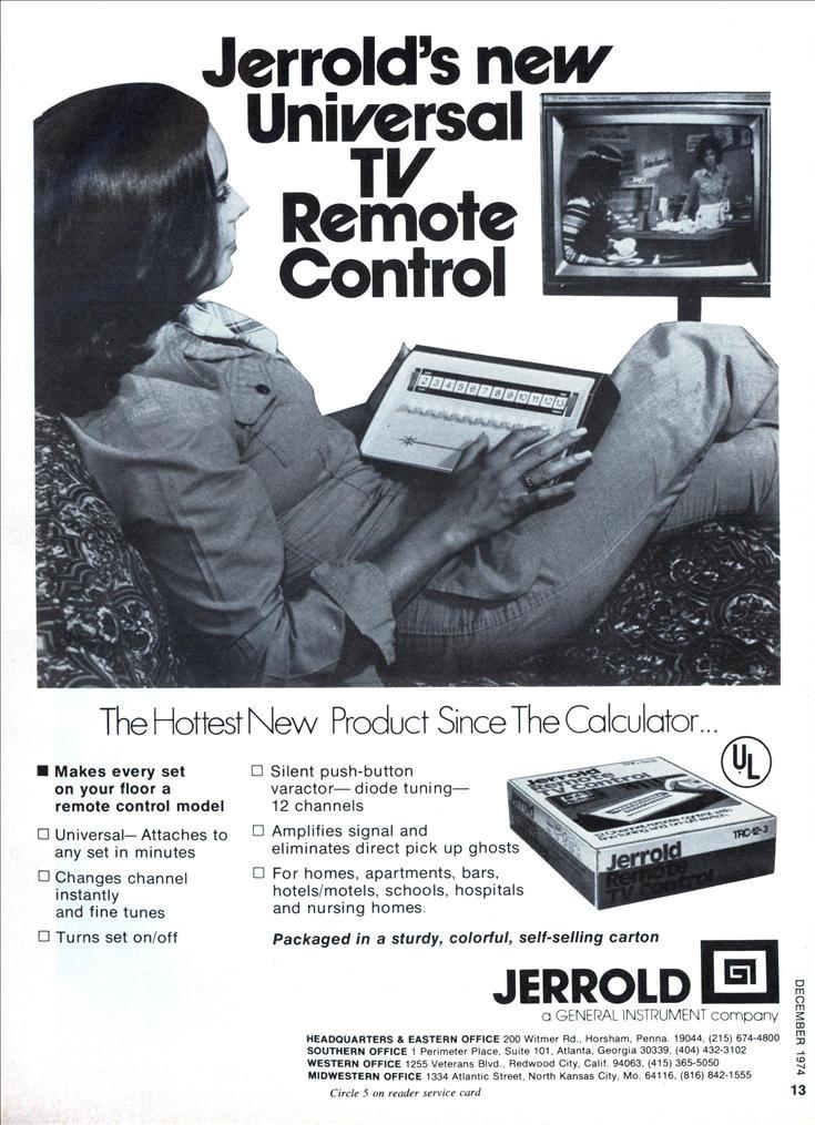 Jerrold S New Universal Tv Remote Control Modern Mechanix
