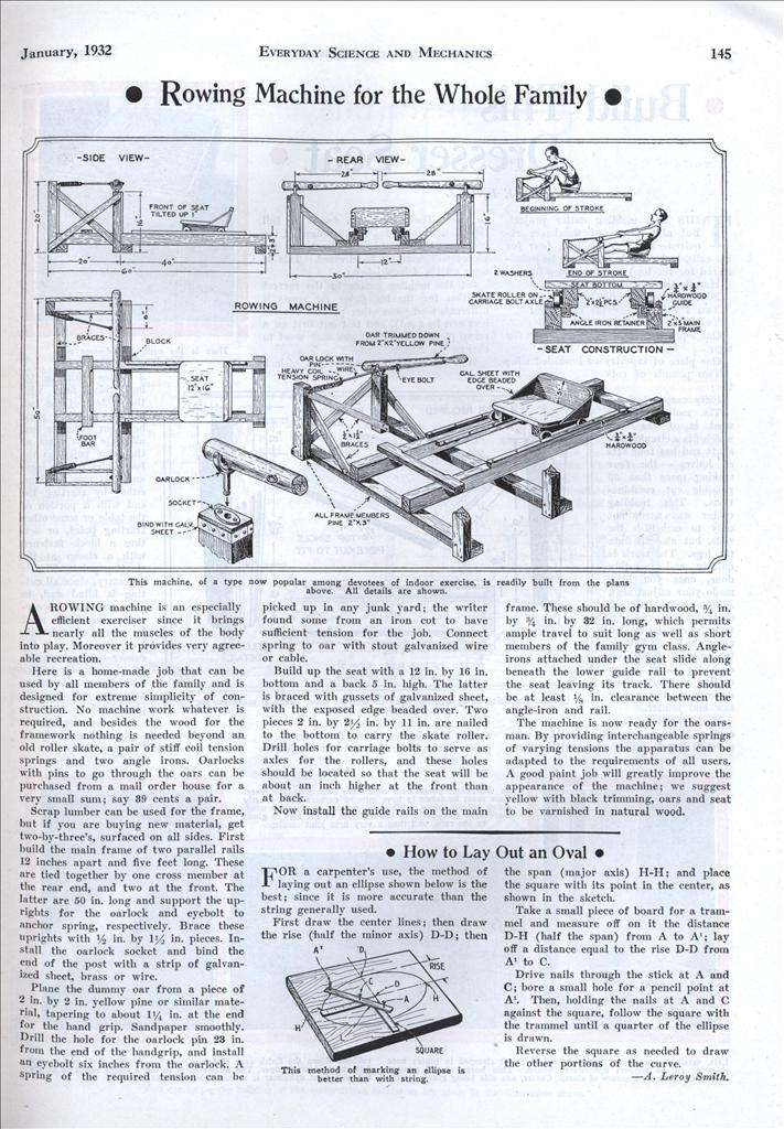 rowing machine plans