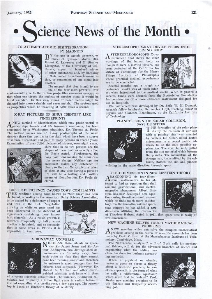 science month sci 1932 modern