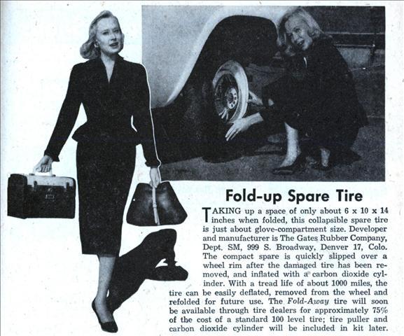 Fold Up Spare Tire Modern Mechanix