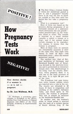pregnancy test results paper